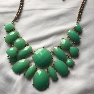 Pearl Green Statement necklace